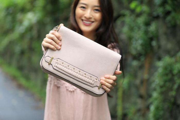 violet ray blush bag