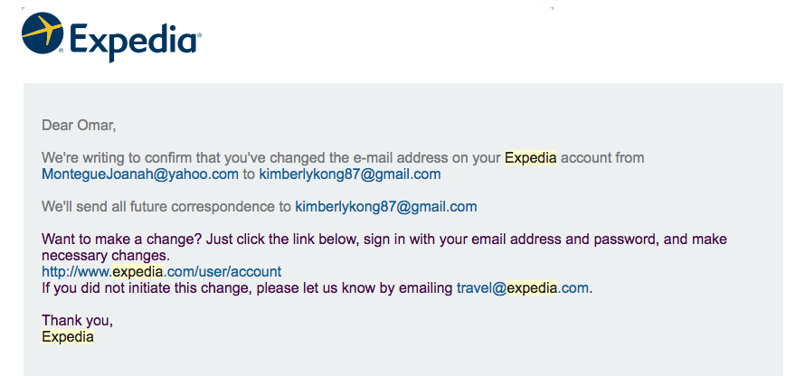 issues with expedia