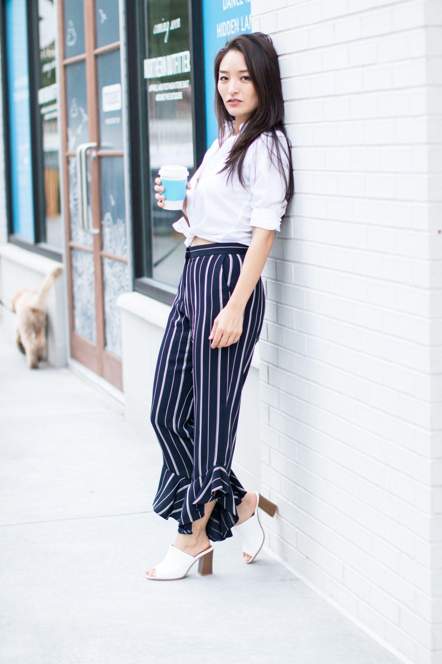 cute office friendly frill pants