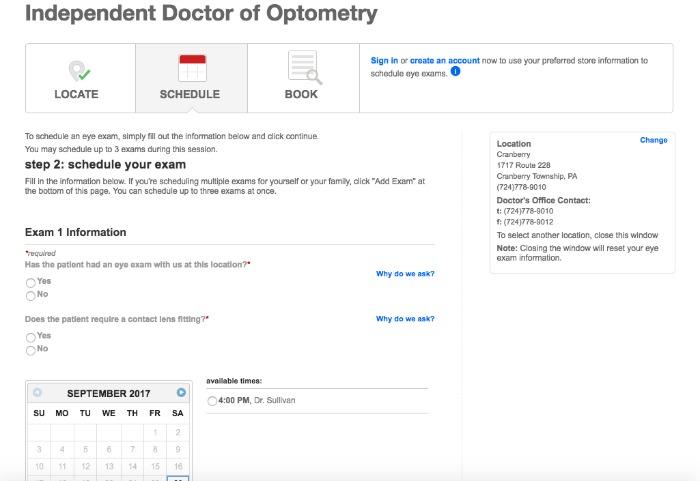 Target Optical® annual eye exam