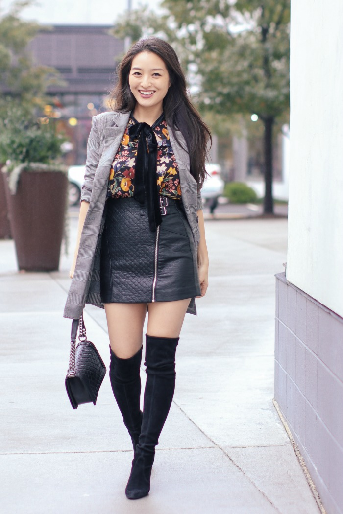 FOTD:  The Quilted Faux Leather Mini Skirt ($29.99)