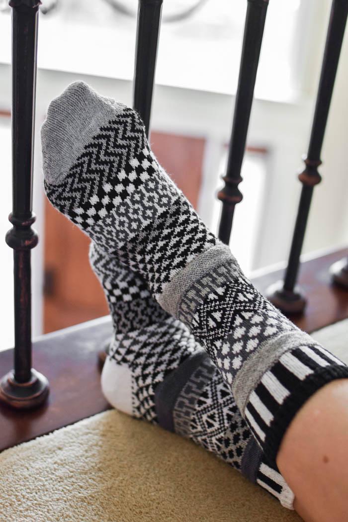 fun printed socks