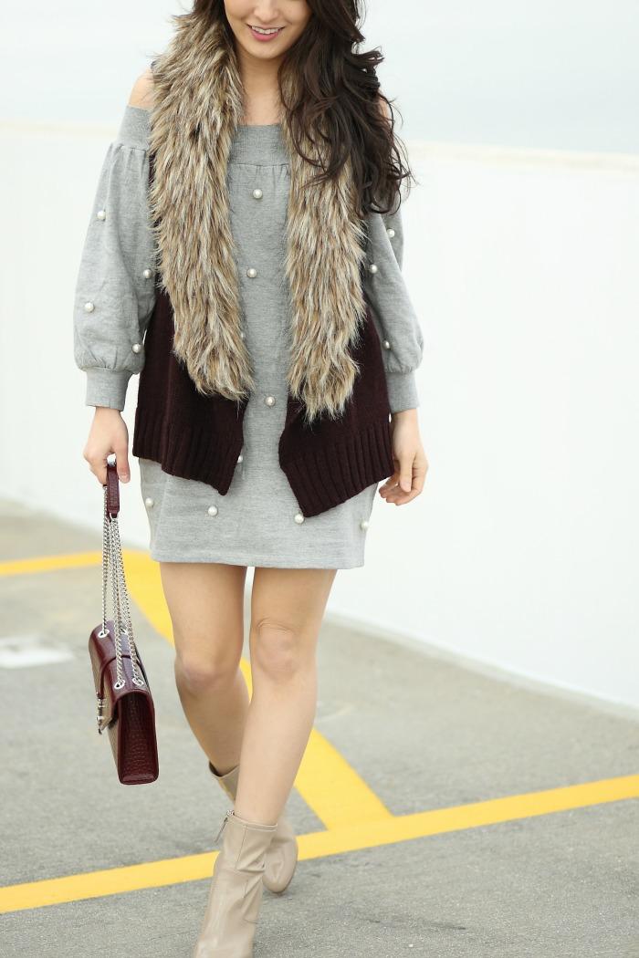 how to wear faux fur vests