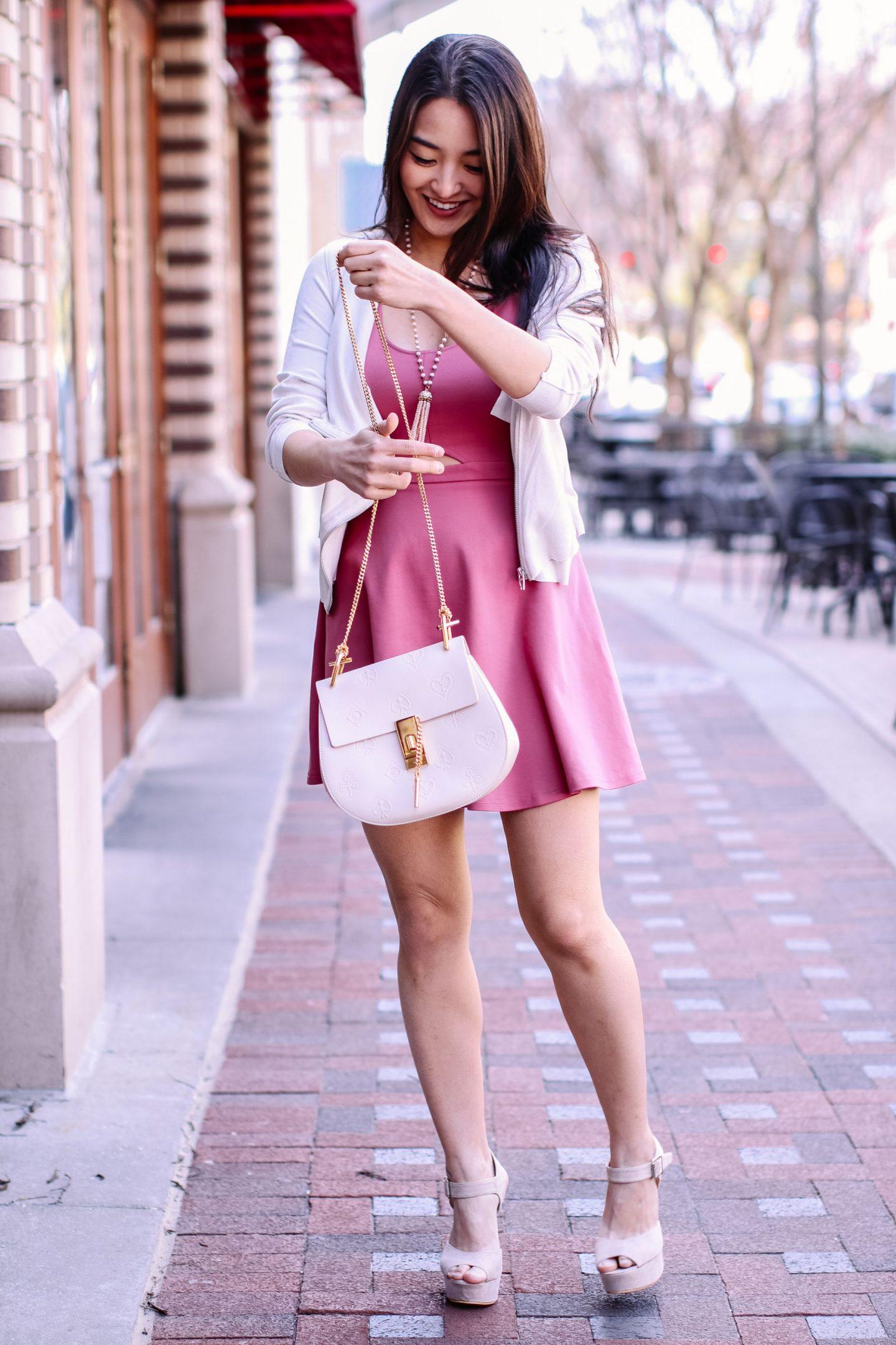 cute pink summer dress