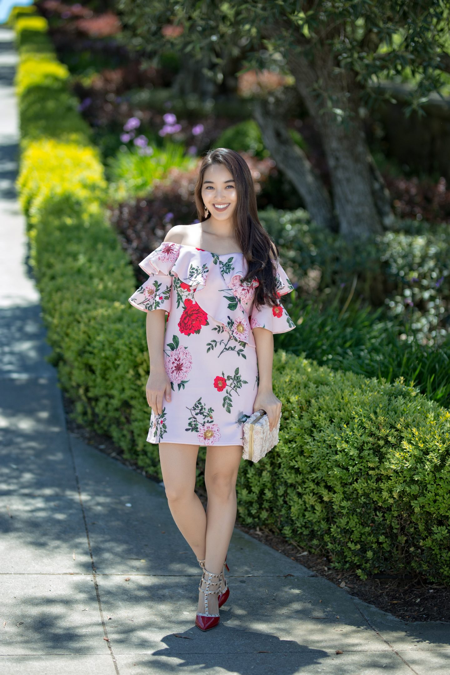 statement dress in florals from asos