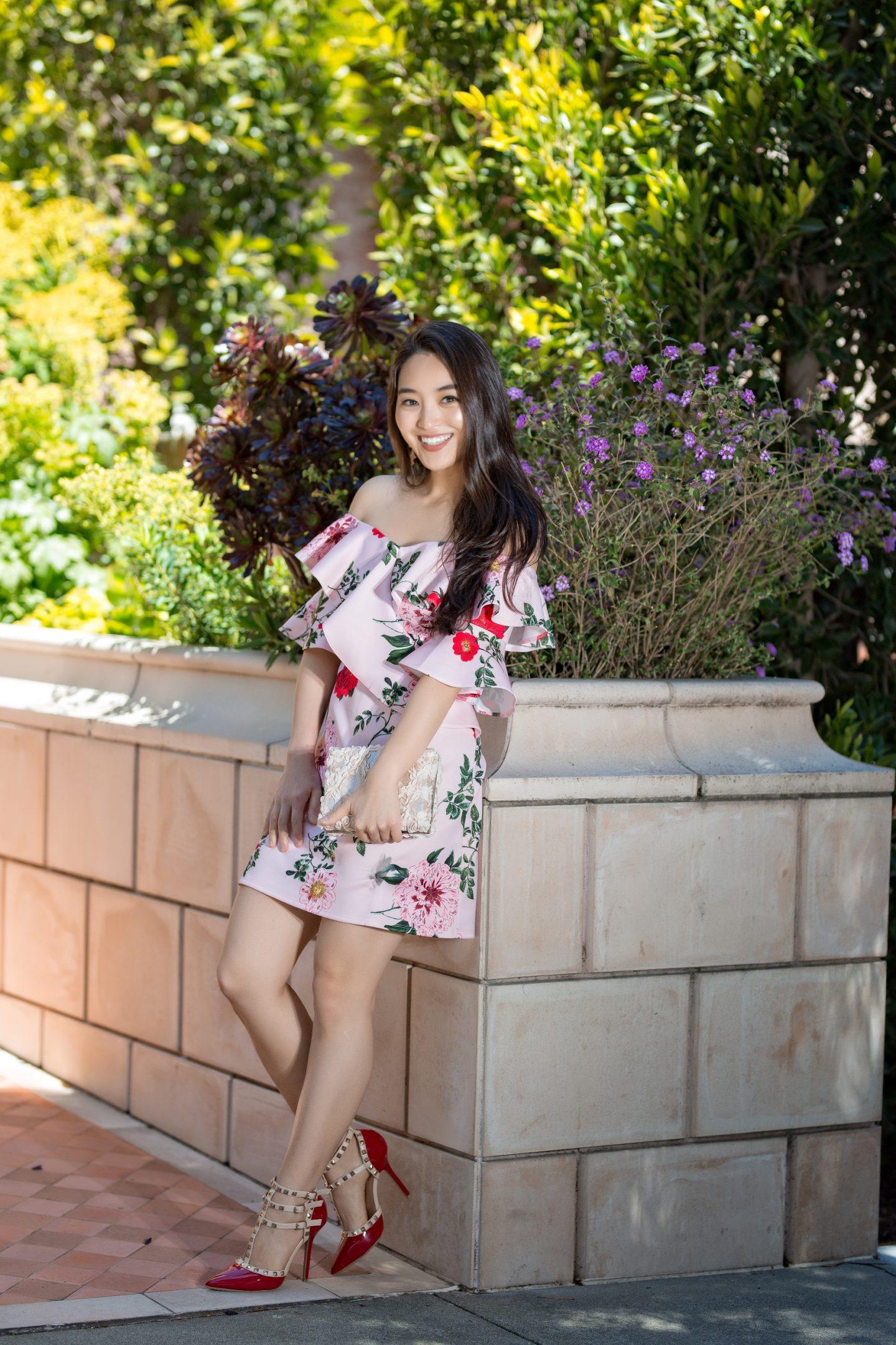 asian blogger wears statement dress