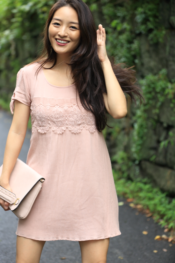 blush almost famous dress
