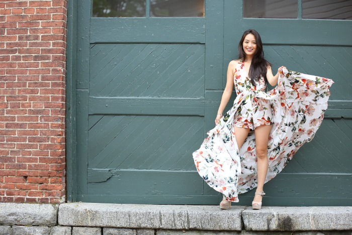 how to wear floral rompers