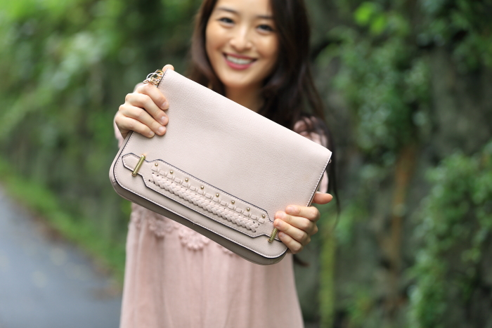 violet ray blush bag