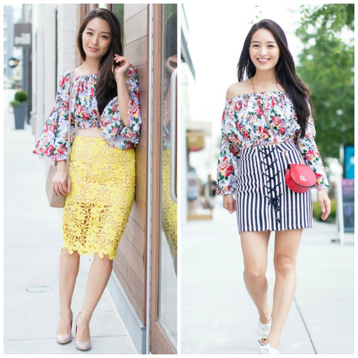 how to wear floral crop tops