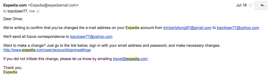 complaints against expedia