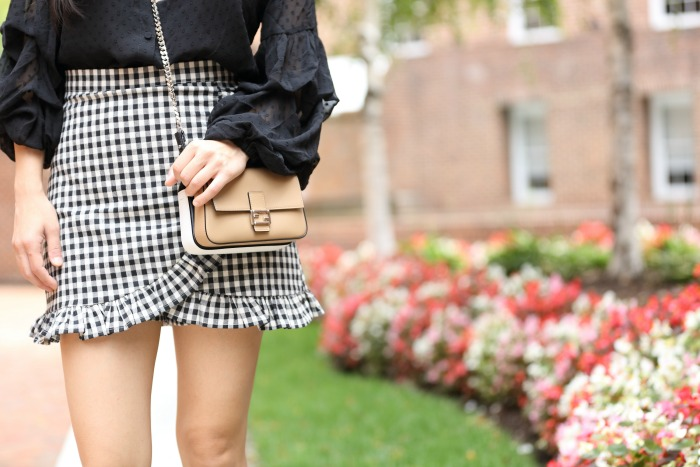 gingham skorts fall trends