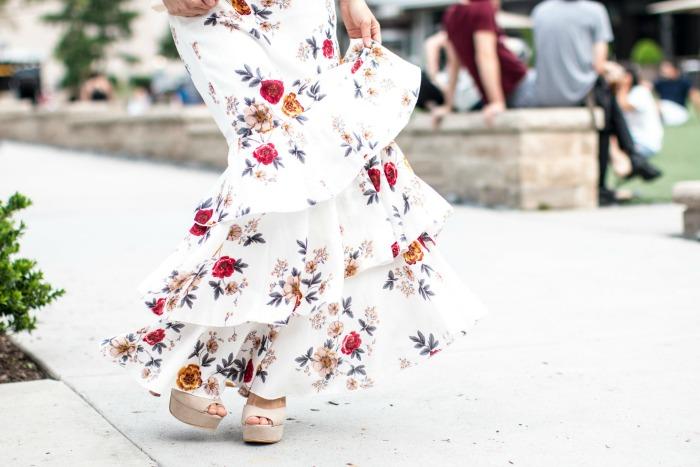 pretty floral maxi skirt