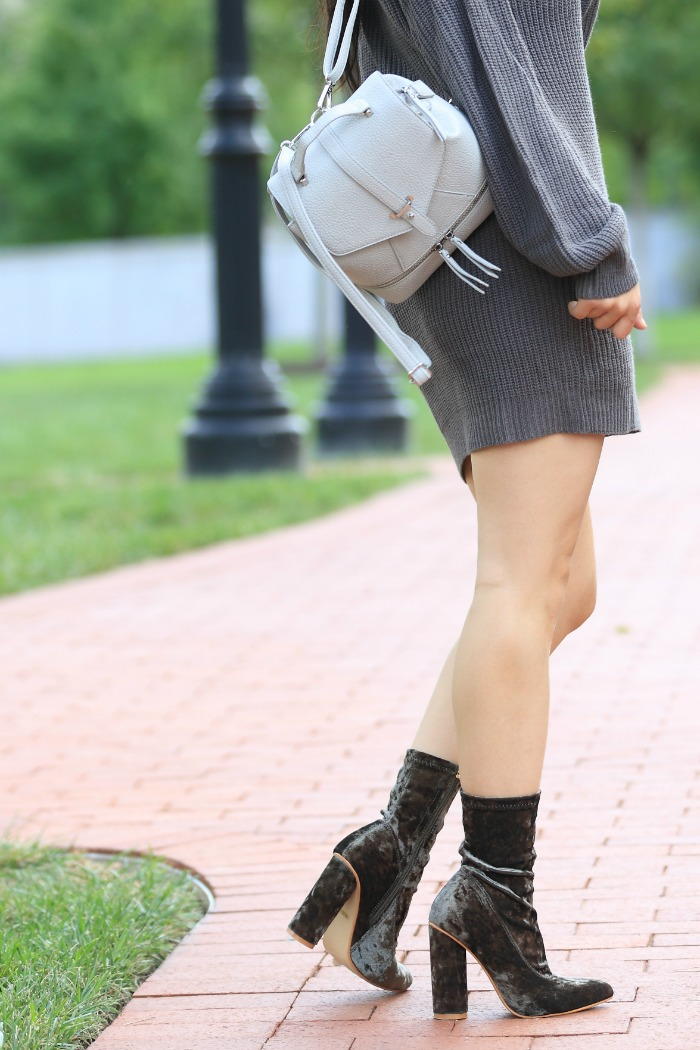 amiclubwear velvet boots