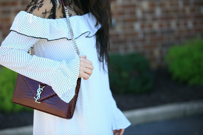 ysl burgundy bag