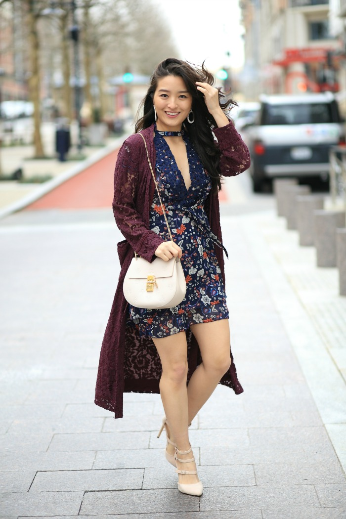 affordable Floral Minidress