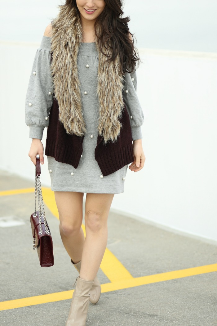 how to wear faux fur vests