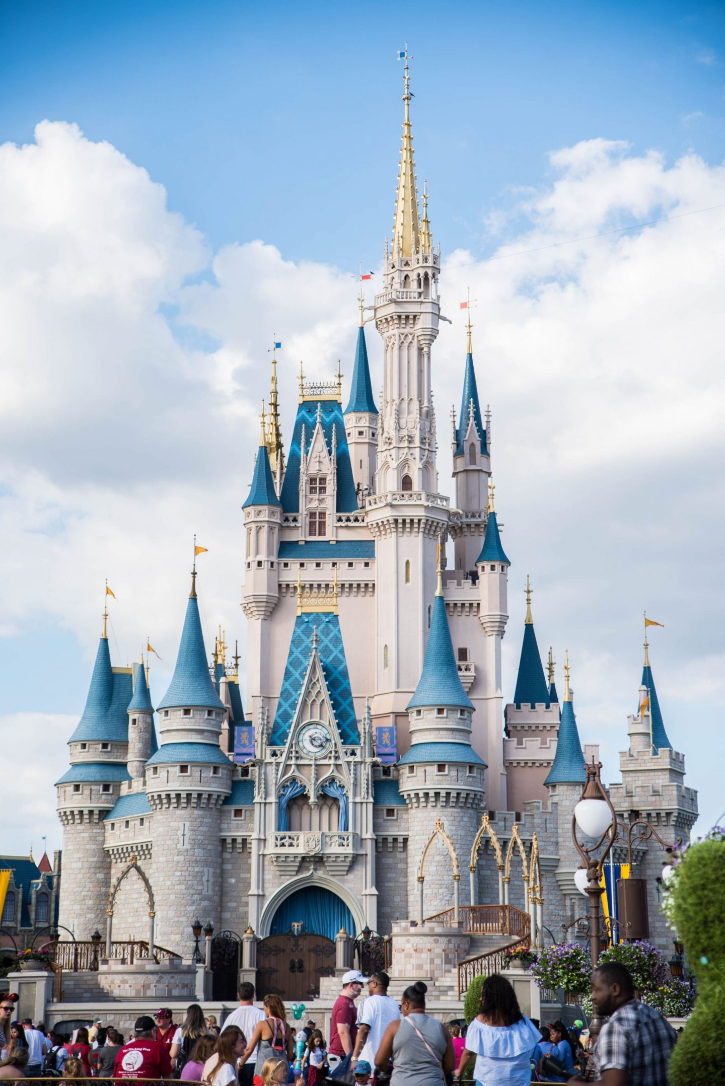 adults at disney magic kingdom