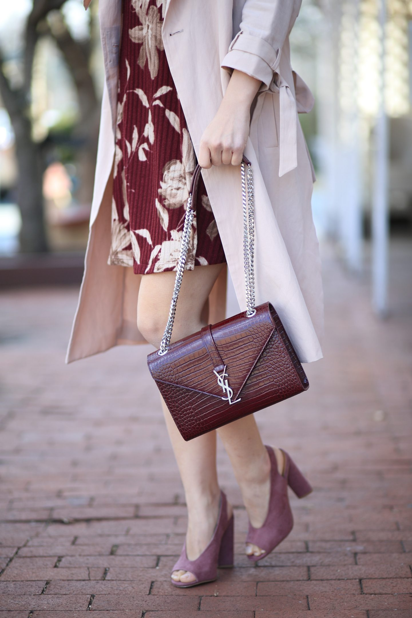 ysl burgundy crossbody bag