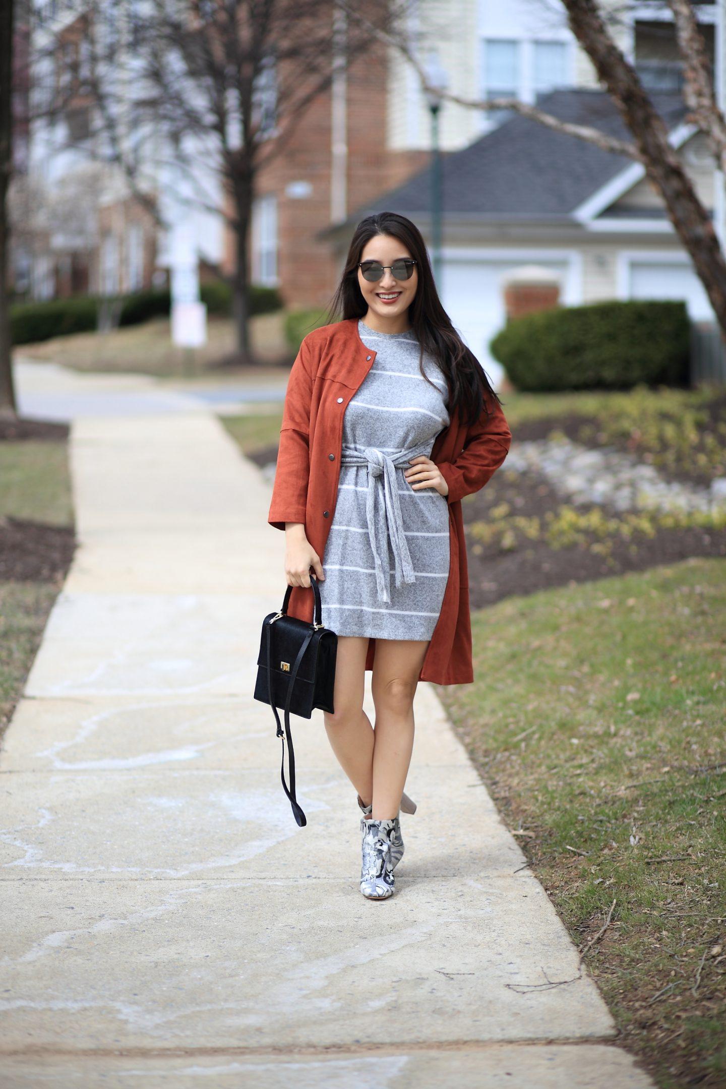 topshop striped minidress