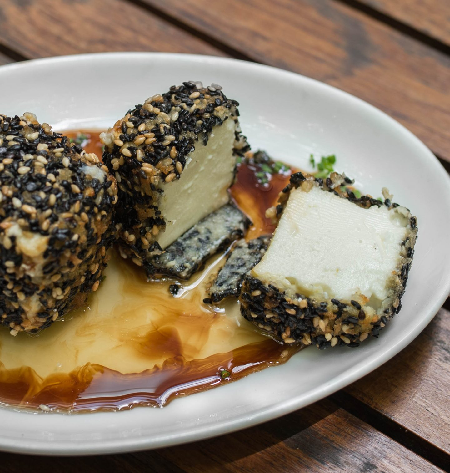 iron gate sesame crusted feta
