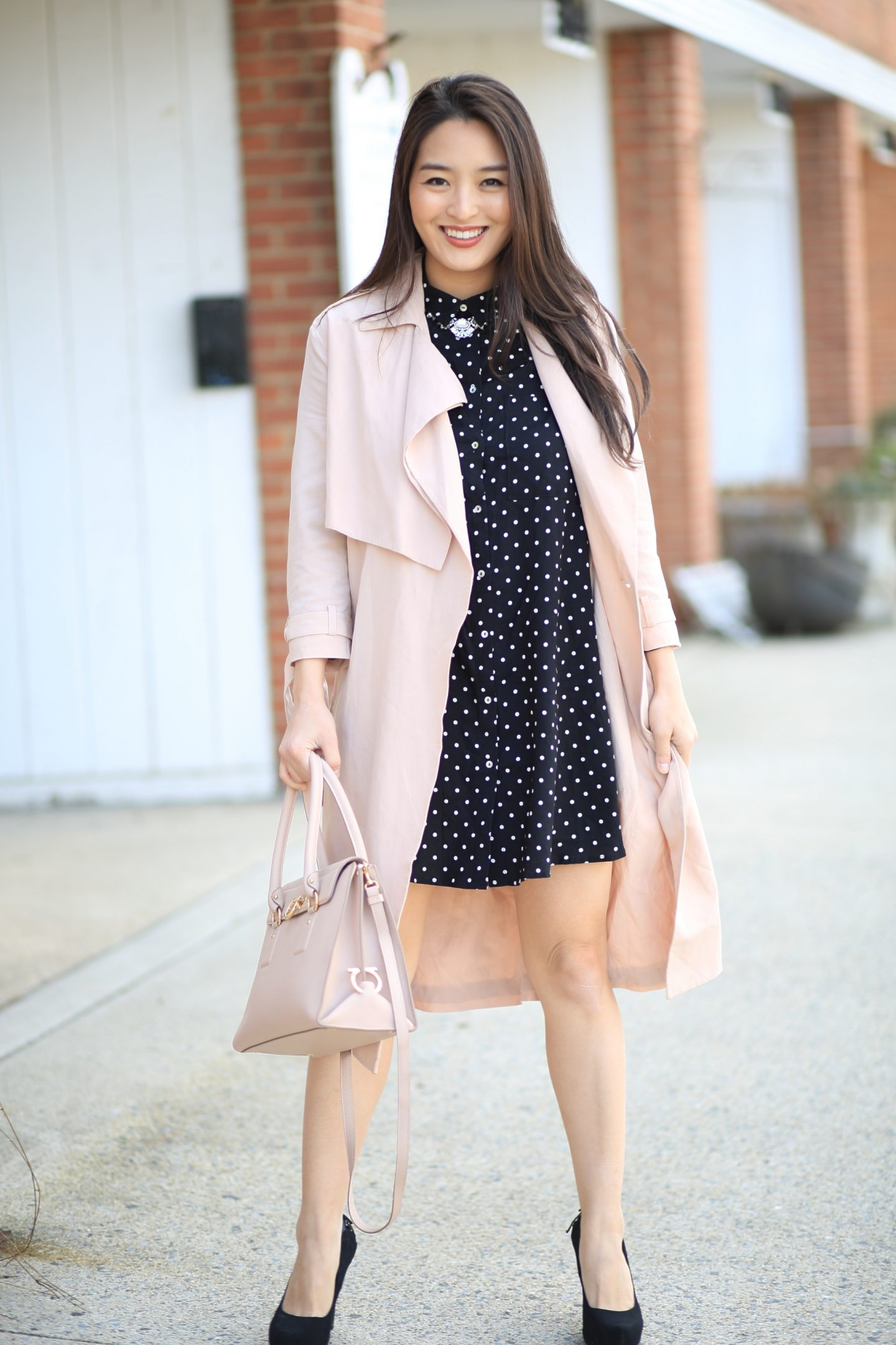 Polka Dot Shirtdress
