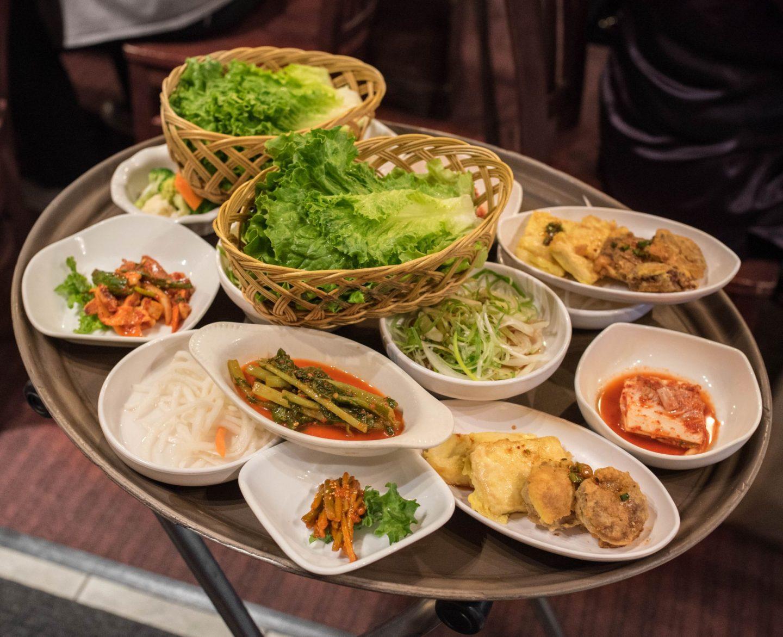 dong bang grill korean food banchan