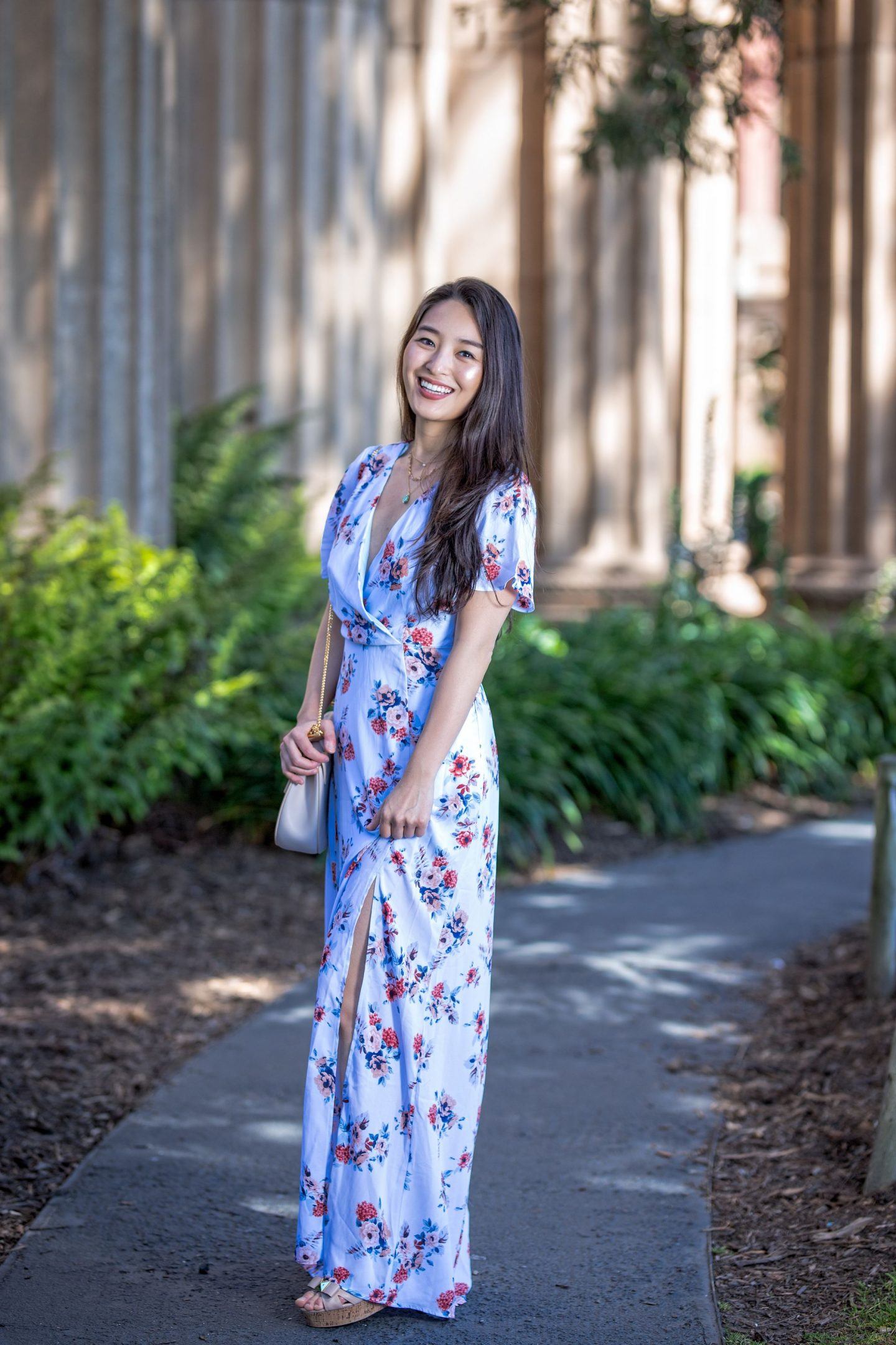 dee elle Floral Maxi Dress