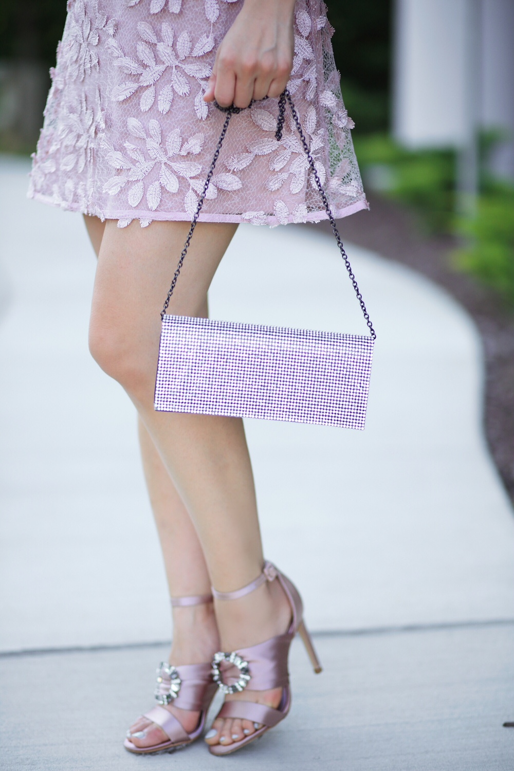 sparkly clutch with Zara shoes