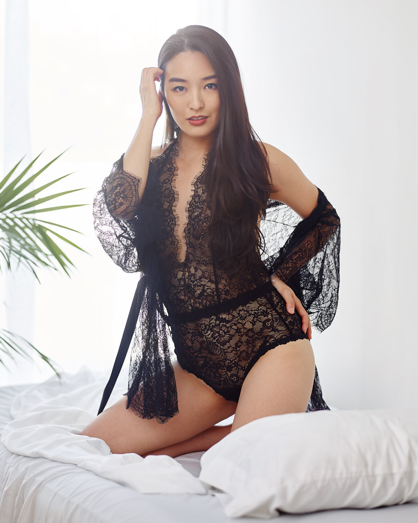 sexy black teddy on korean blogger