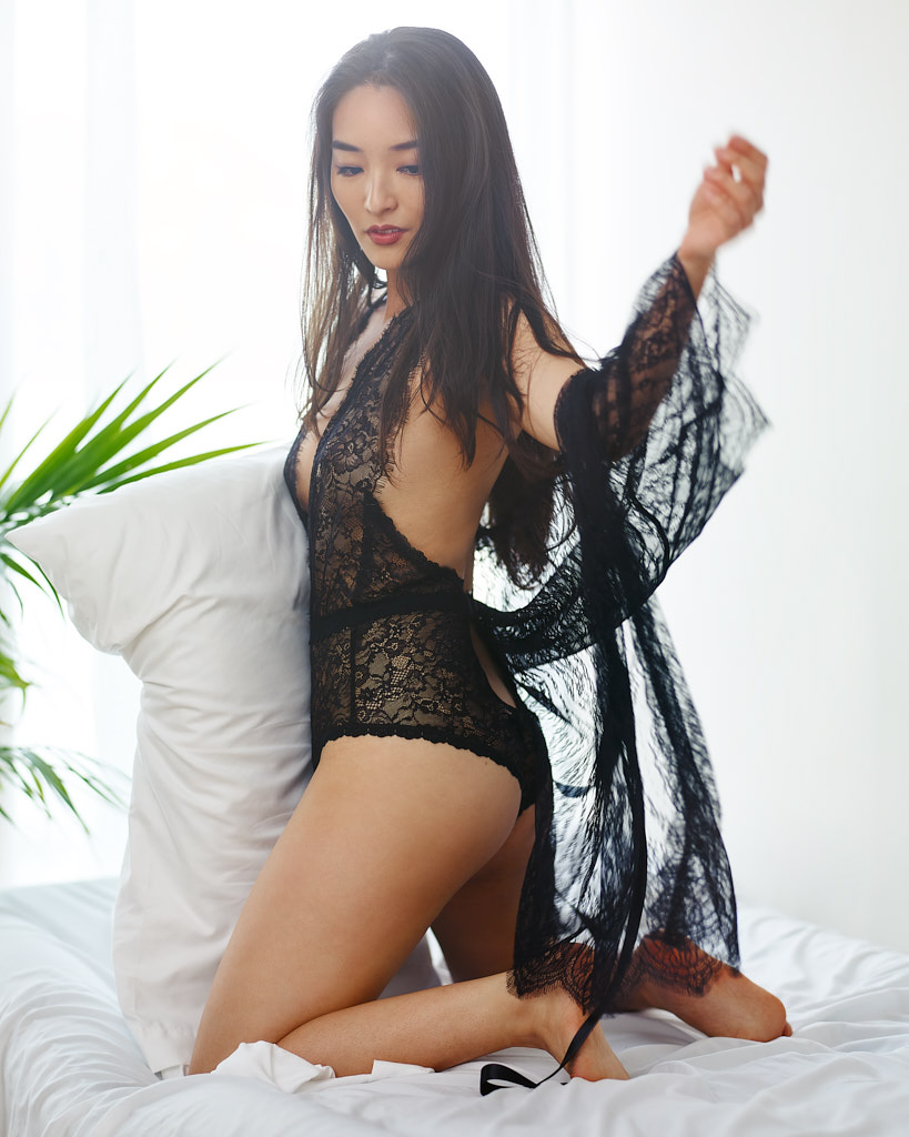 black teddy on asian girl
