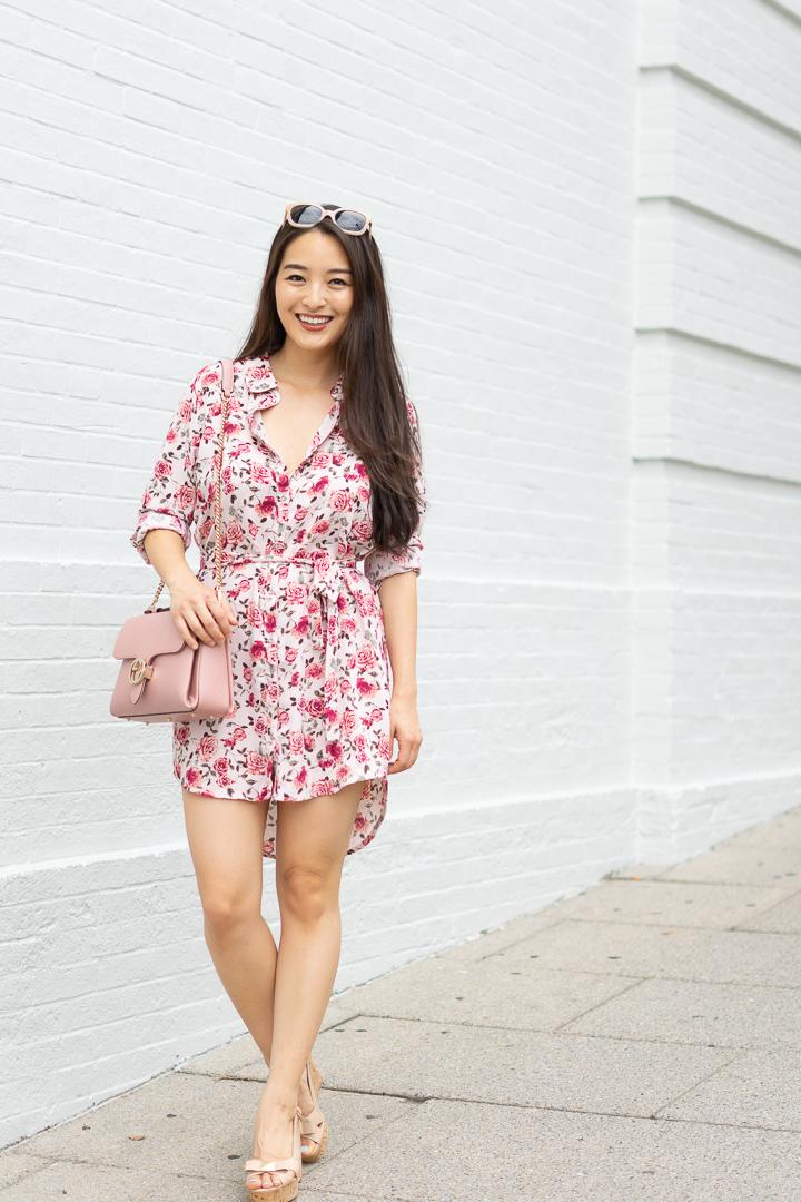 forever 21 floral shirt dress
