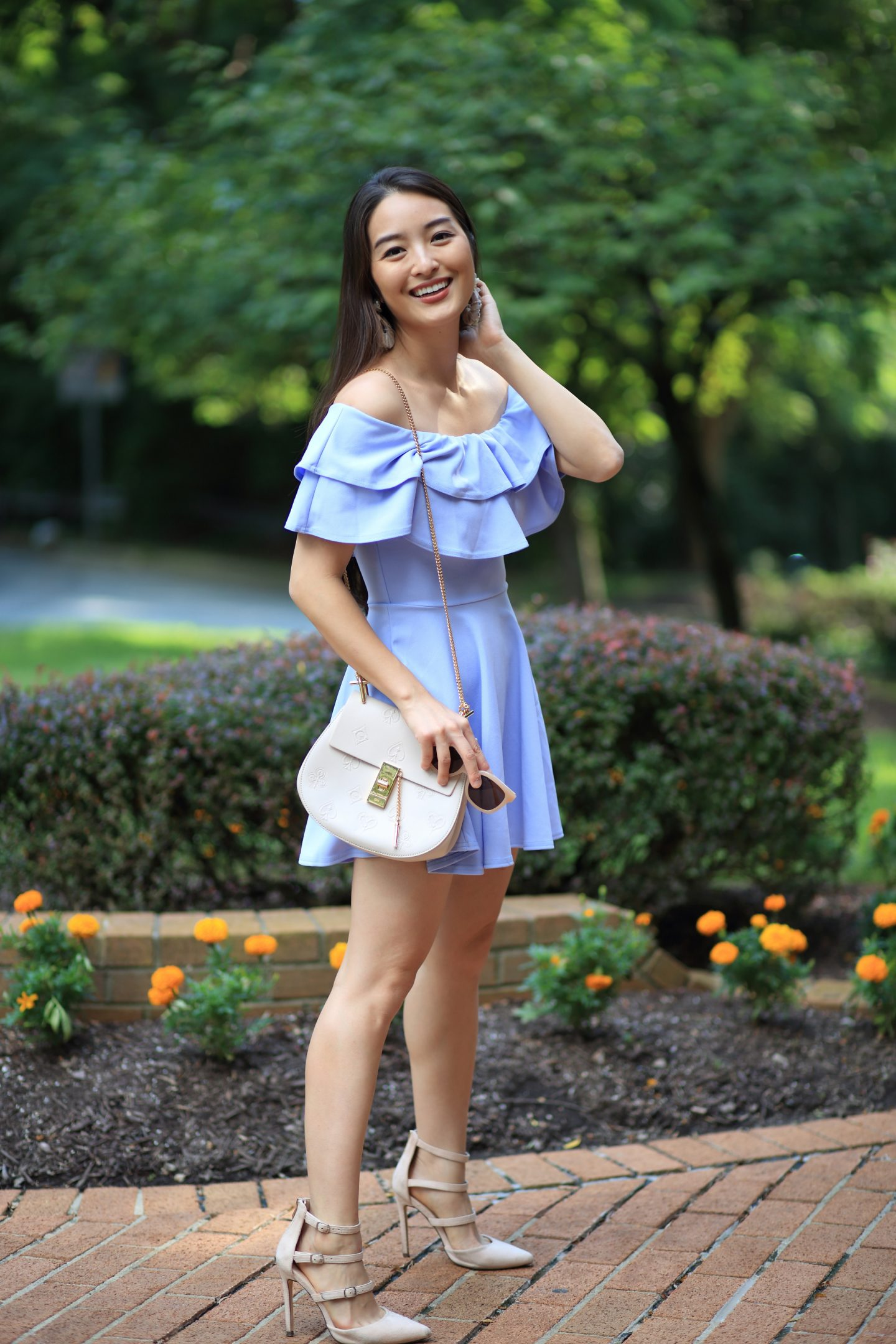 asos periwinkle dress