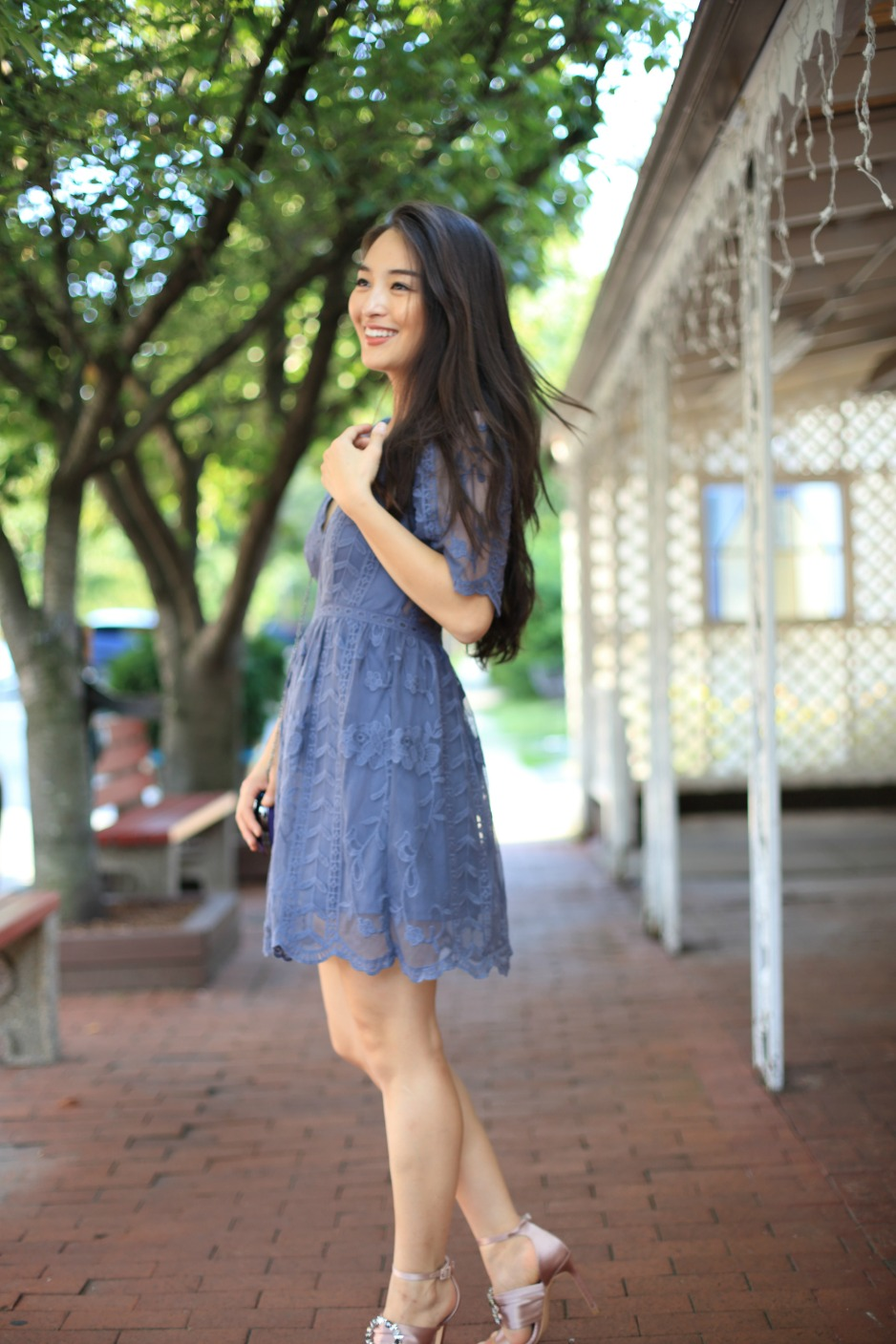 socialite blue dress