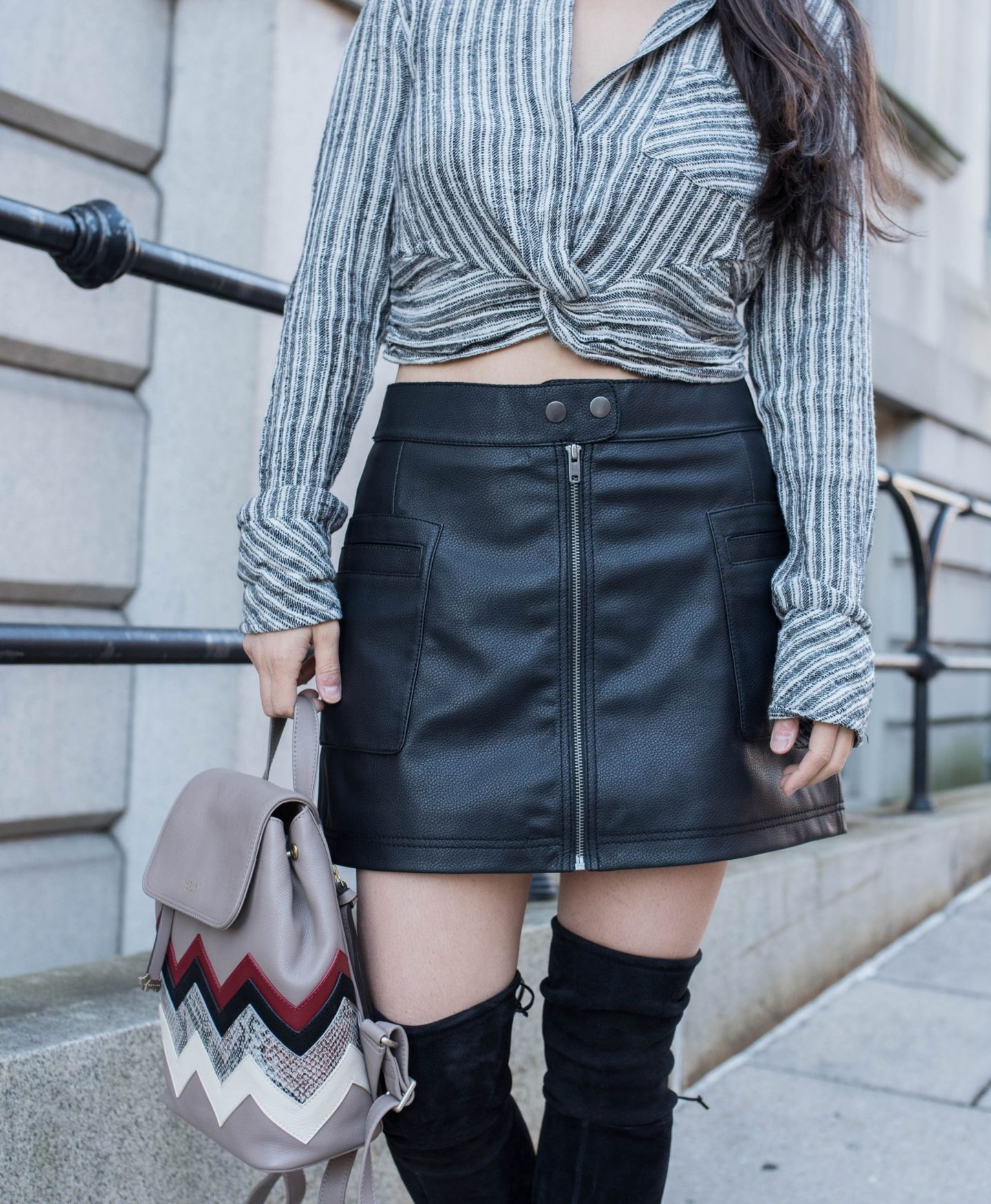 free people faux leather skirt