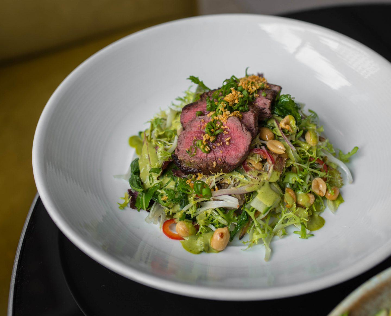 the source steak salad