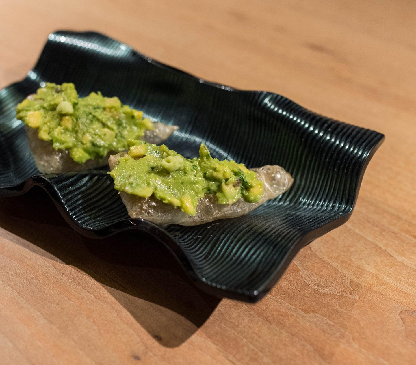 avocado chicharron minibar