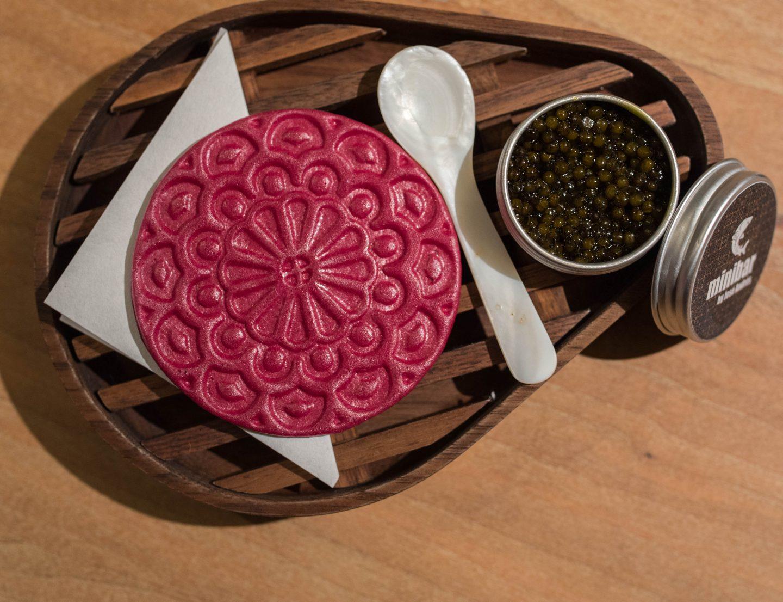 caviar on beet
