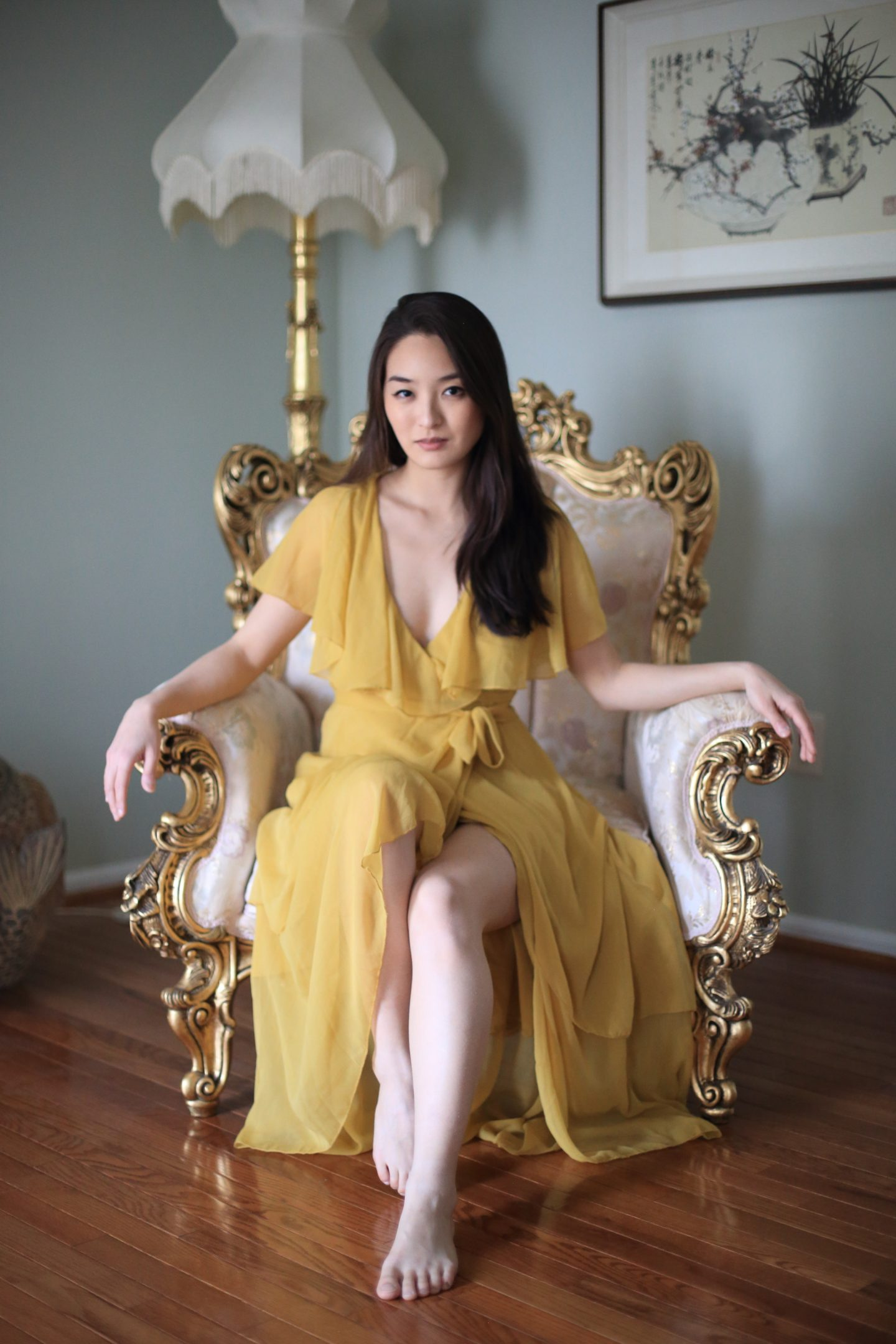asos dress yellow