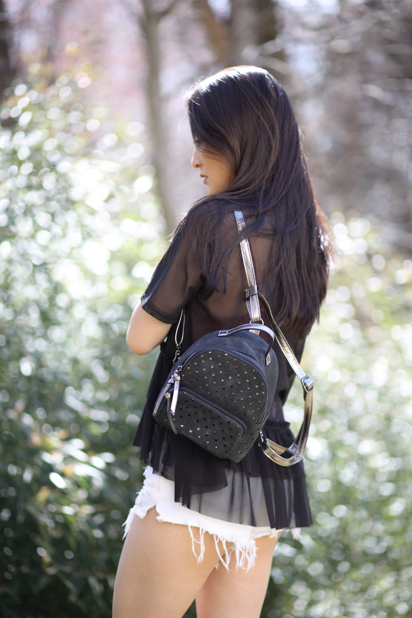 violet ray mini backpack