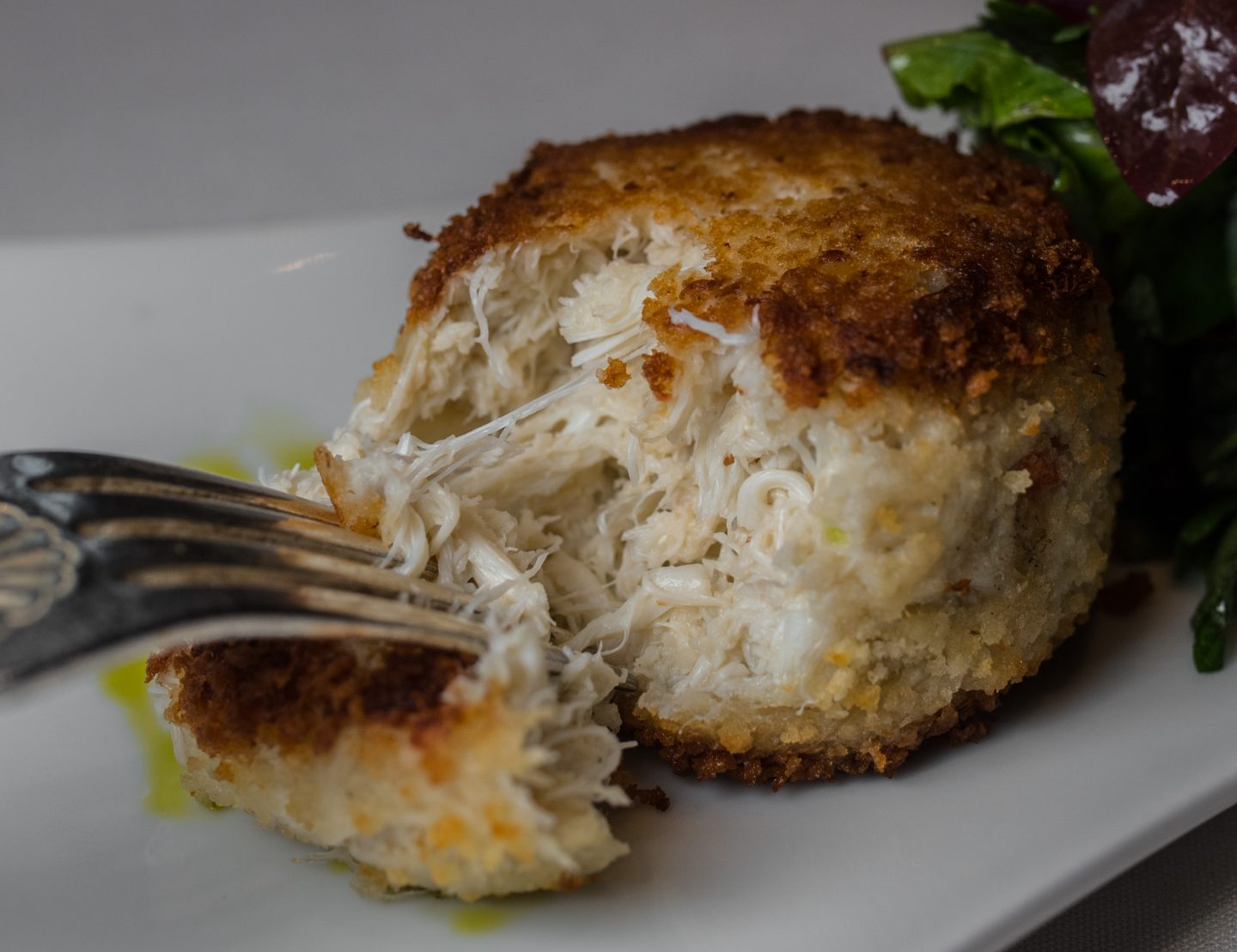 green room crab cake