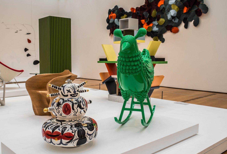 contemporary art display