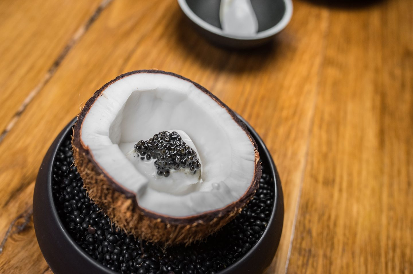 coconut caviar ice cream