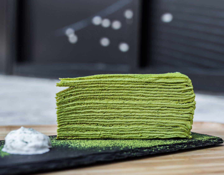 kyoto matcha crepe cake
