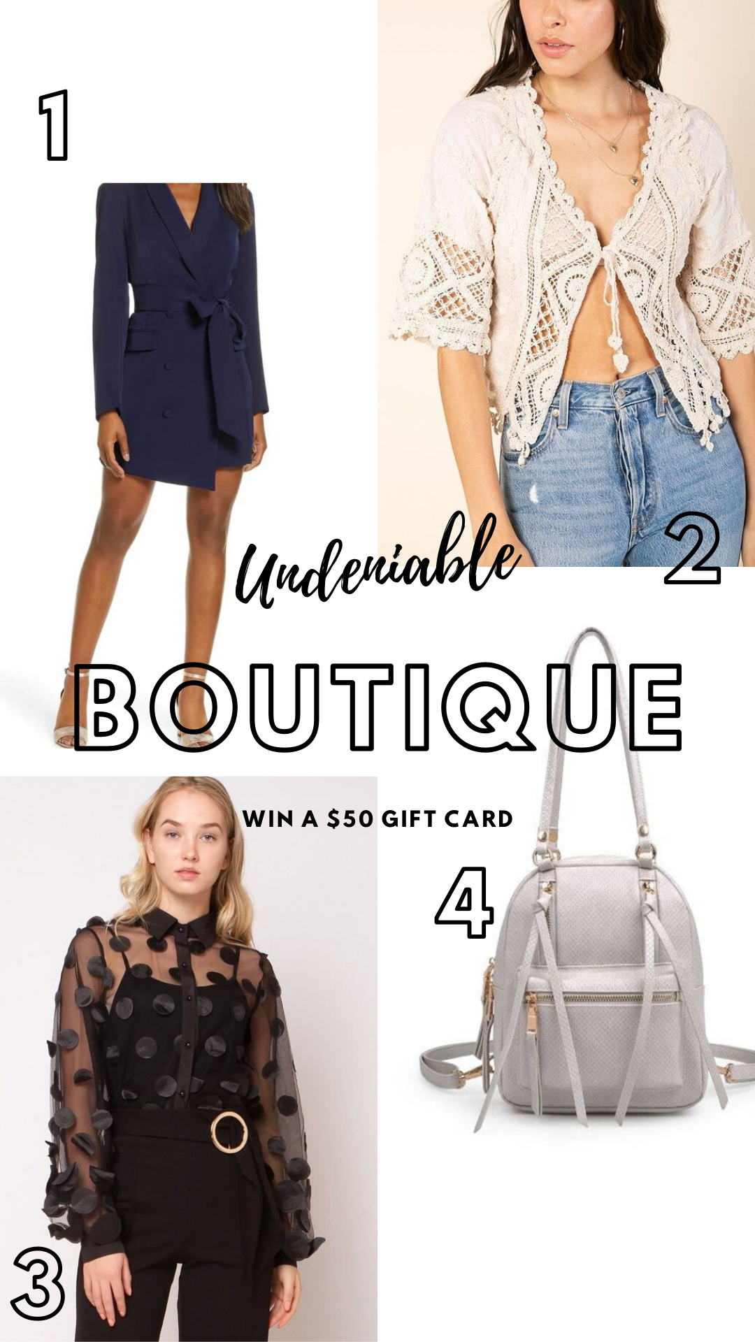 Gift Card to Undeniable Boutique