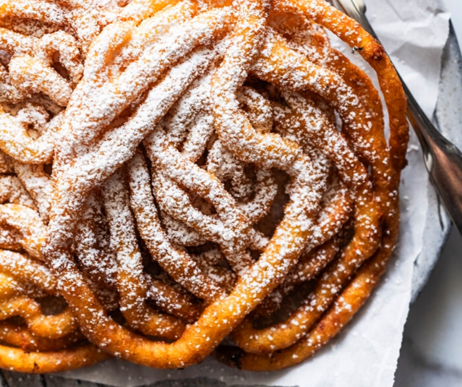 homemade keto funnel cake