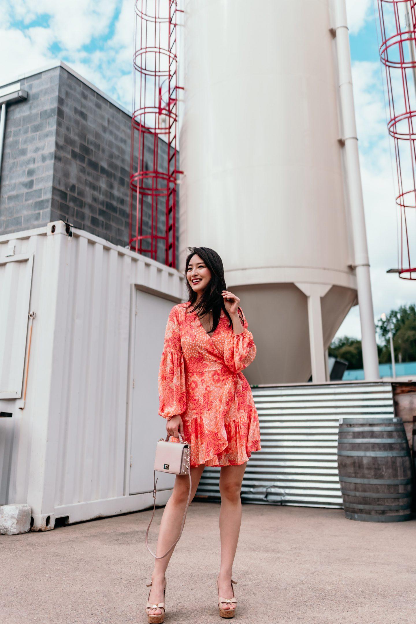 red dress boutique orange mini dress