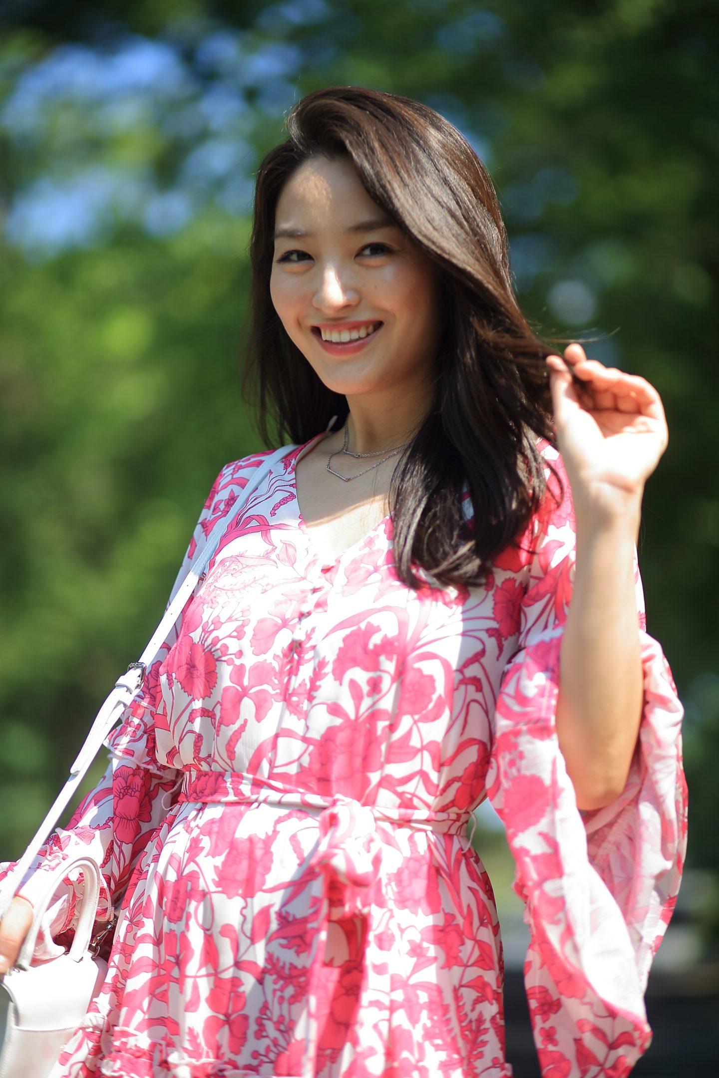 pink floral dresses