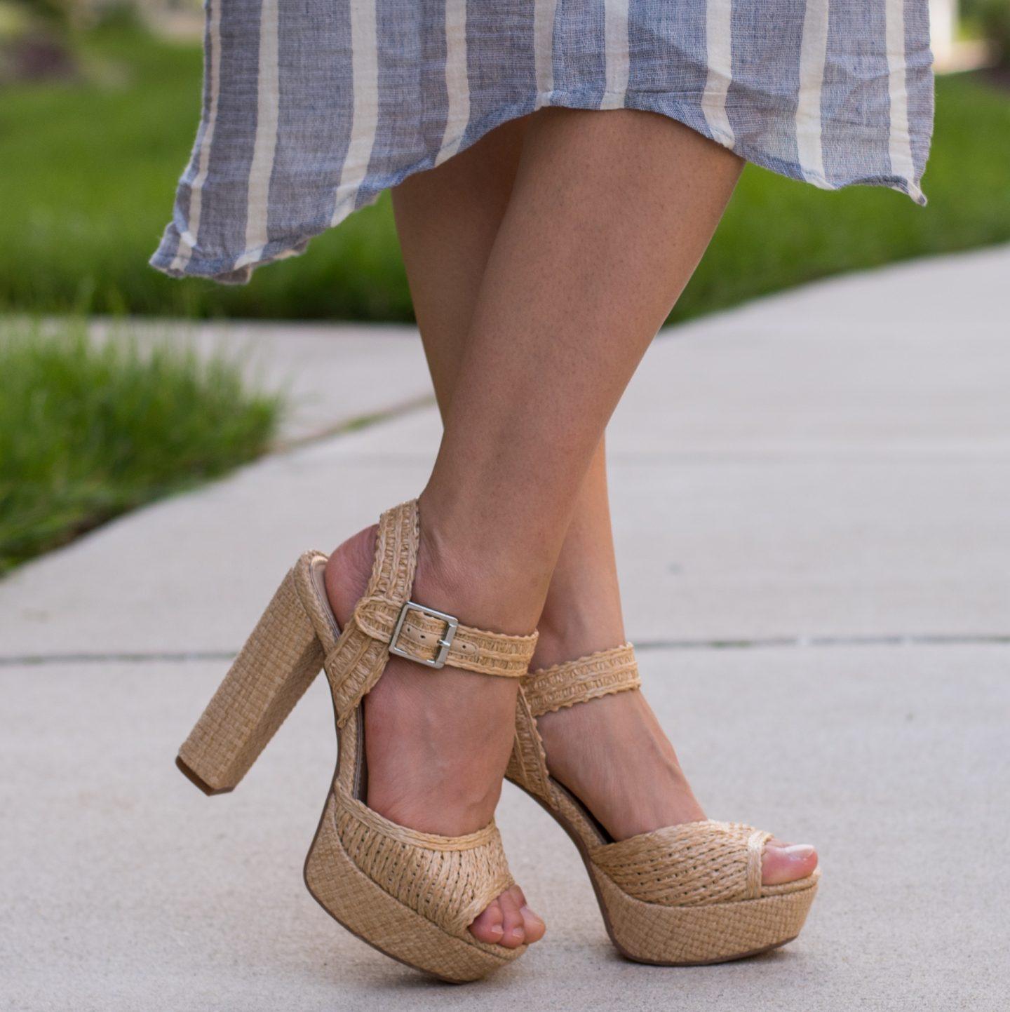 Woven Raffia Sandals