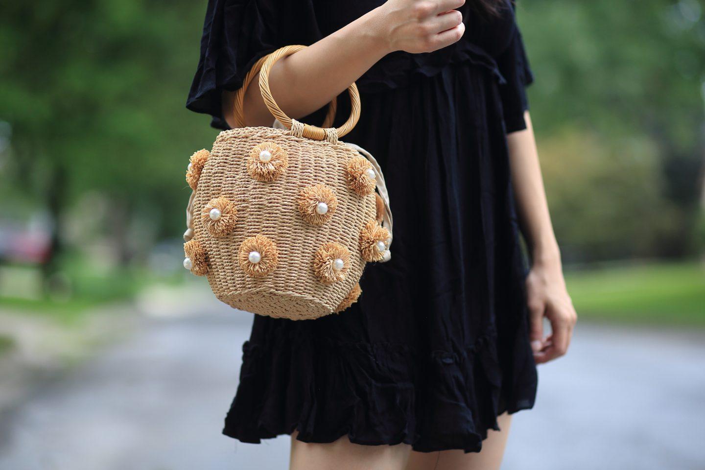 zara straw bag
